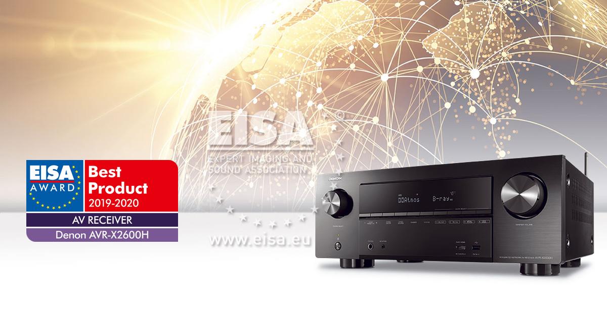 DENON AVR-X2600H RECEIVER AV EISA 2019-2020