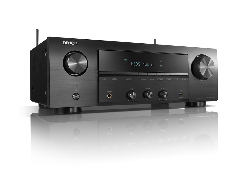 DRA-800H, o receiver estéreo DENON com streaming multi-room Heos