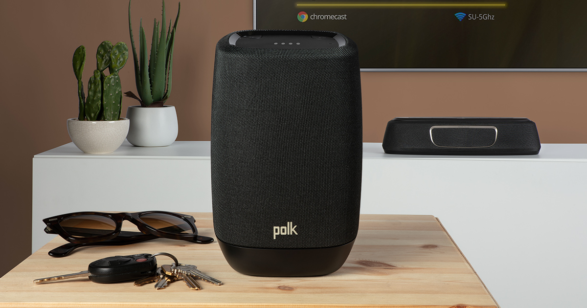 Coluna Google Assistant e Chromecast Polk Assist