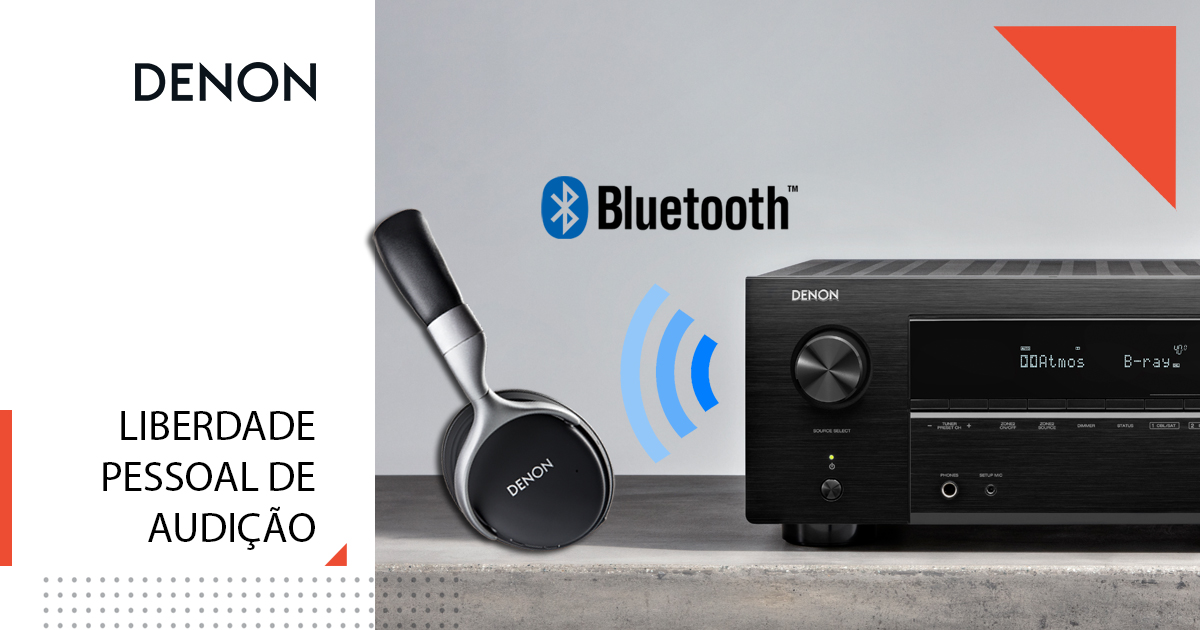 Denon com Bluetooth bidirecional