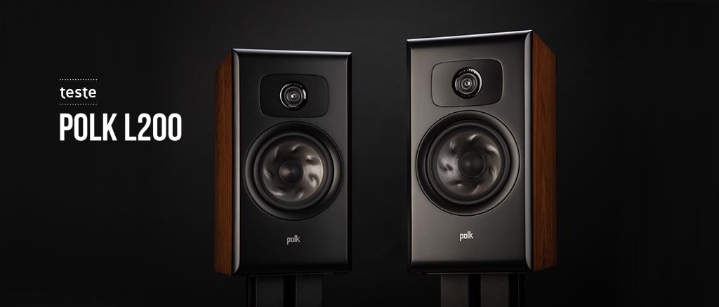 Teste Polk L200 na revista Audio
